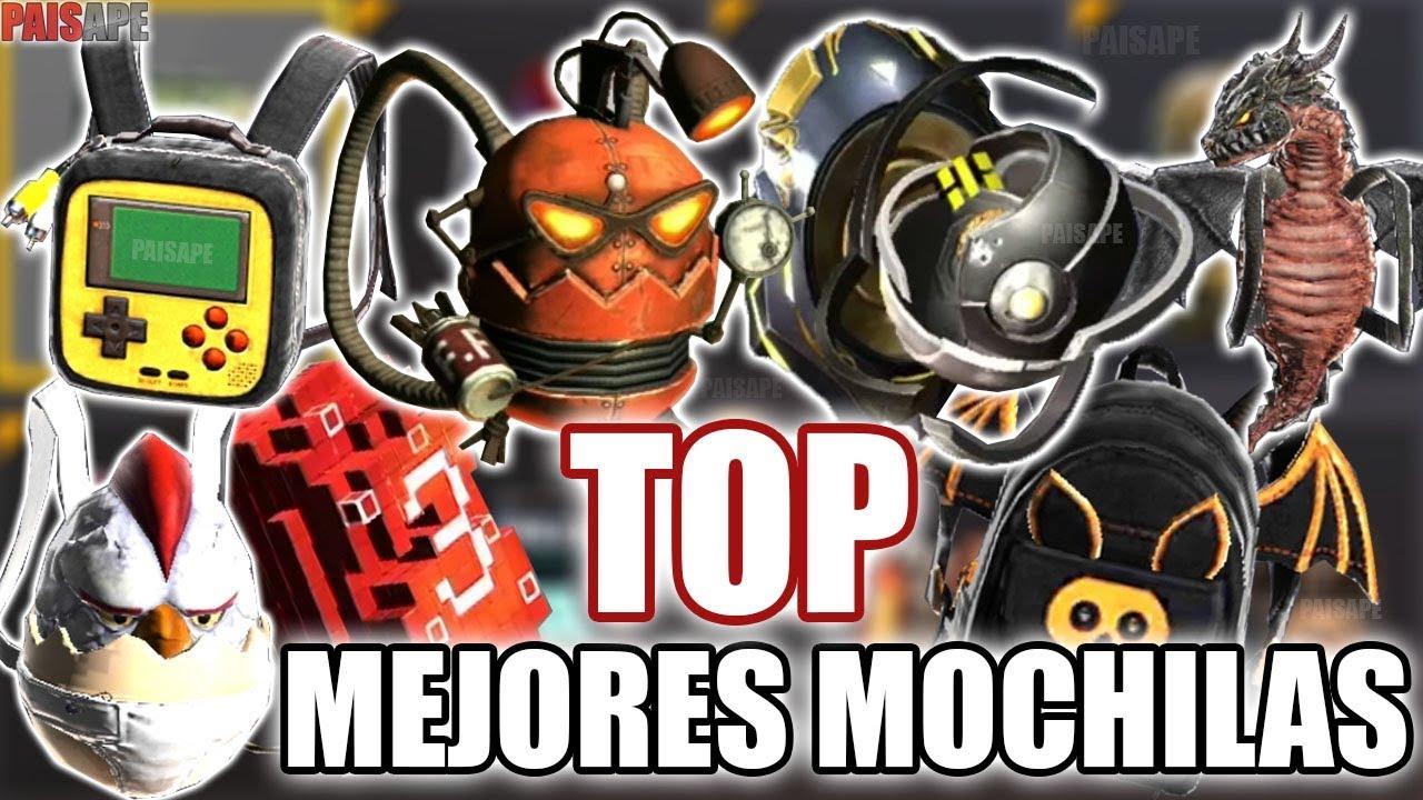 LAS MEJORES MOCHILAS DE FREE FIRE (TOP 20) - YouTube