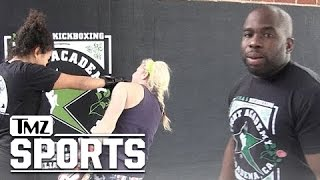MMA Star Savant Young -- Hilarous Rousey vs Nunes Reenactment | TMZ Sports