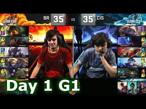 [PLAY] Brazil vs CIS | 2016 LoL IWC All-Stars in Barcelona Group Stage Day 1 | FIRE vs ICE