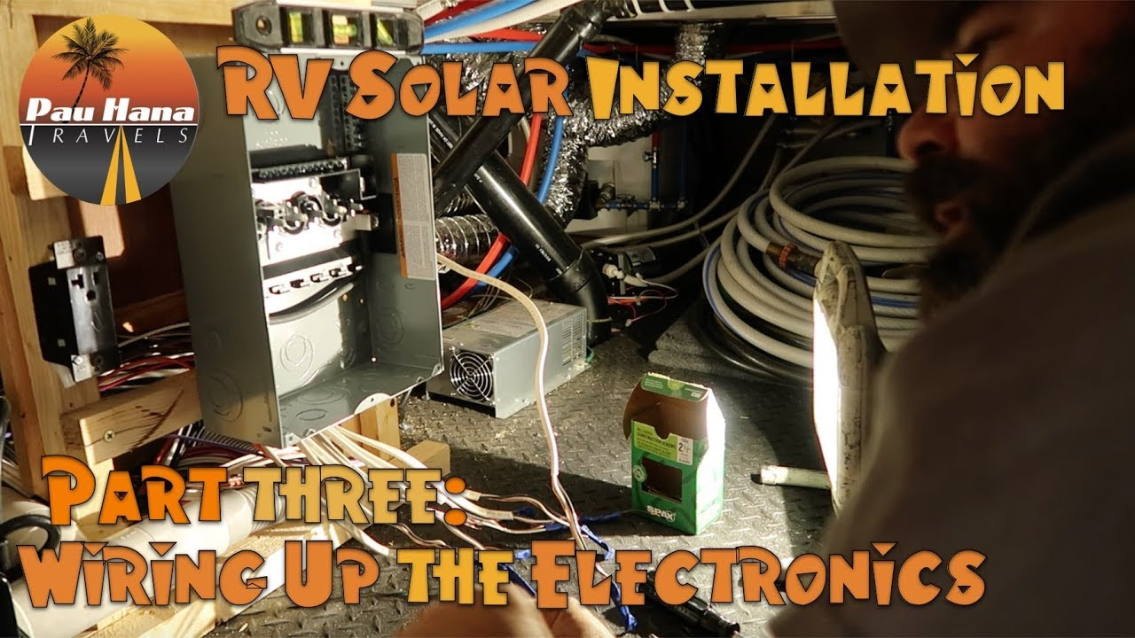 hight resolution of rv solar installation part 3 installing solar controller bkm and circuit box and sub panel
