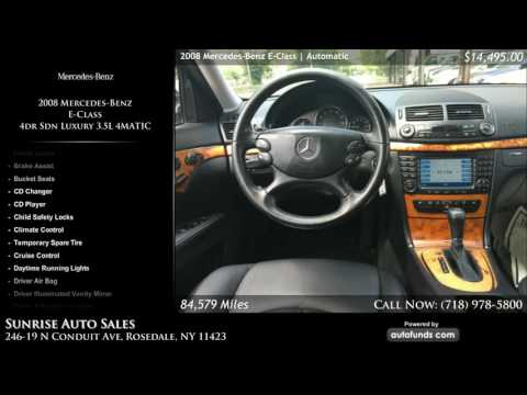 Used 2008 Mercedes-Benz E-Class | Sunrise Auto Sales, Rosedale, NY