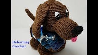 Crochet Cute Amigurumi Dachshund Dog Part 1 of 2 DIY Video Tutorial