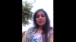Indian girl talking