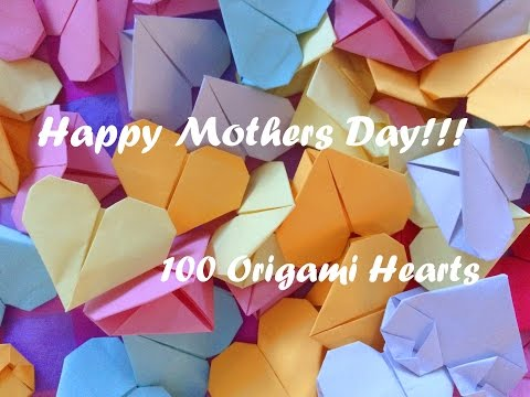 MOTHER'S DAY SPECIAL!   100 ORIGAMI HEARTS!!