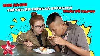 Ribi Sachi trổ tài làm trứng gà nướng cho Thái Vũ Faptv.