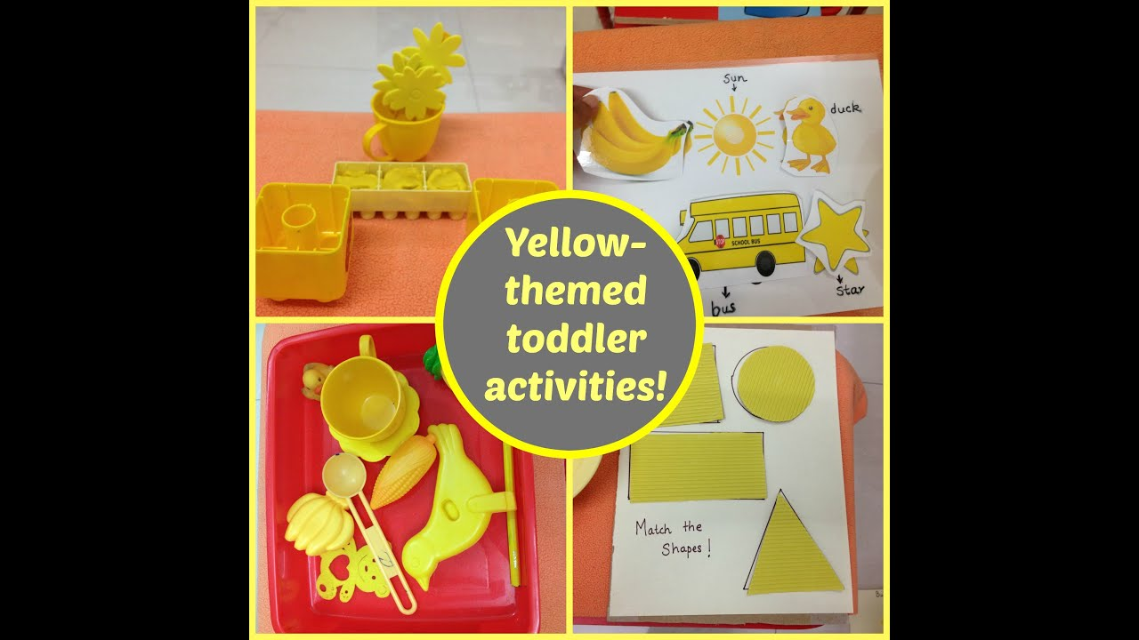 Montessori Inspired Yellow Color Themed Toddler Activities