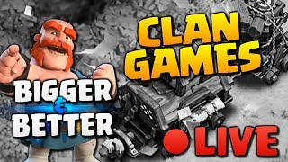 BIGGEST CLAN GAMES EVER - LIVE in Clash of Clans!
