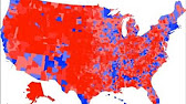 Isarithmic History Of The TwoParty Vote YouTube - Isarithmic map us voting