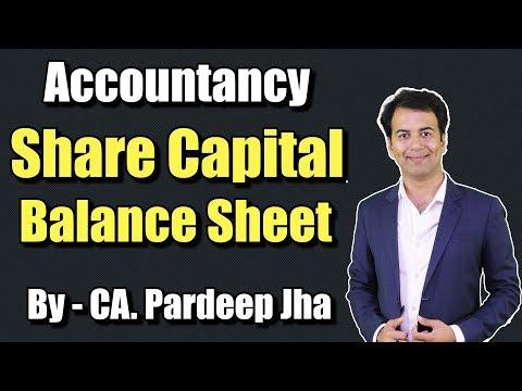 Share Capital Class 12 |  Balance Sheet | How to Draft Balance Sheet |CA Pardeep Jha | Part - 12