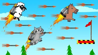 ULTIMATE JET PACK Arrow Dodge CHALLENGE! (Ultimate Chicken Horse)