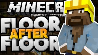 SO MANY FRUSTRATING LEVELS!!! - Floor After Floor Puzzle Map - Minecraft PE (Pocket Edition)