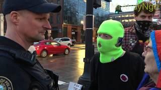 Portland Antifa Harasses Police for Arresting Man w/Weapon