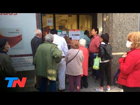 En Medio De La Cuarentena, Masivas Colas De Jubilados En Los Bancos Para Cobrar: Vanoli, De La ANSeS