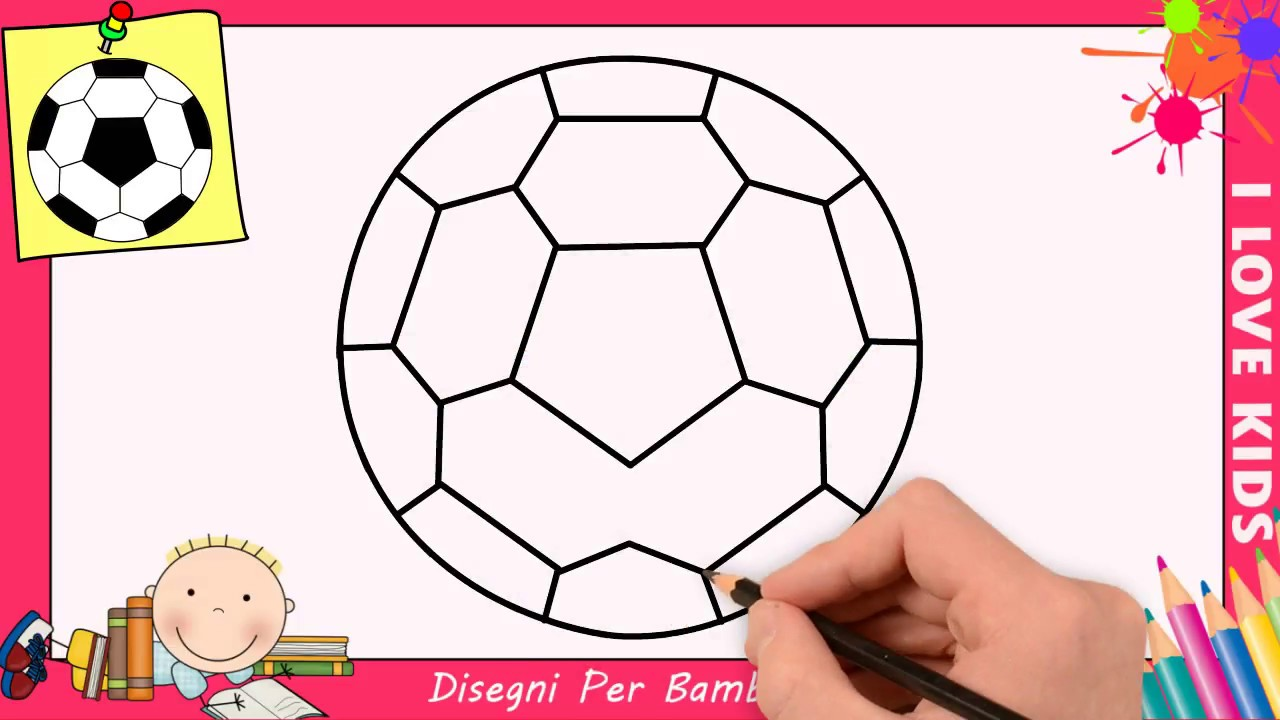 Come Disegnare Una Palla Da Calcio Facile Passo Per Passo Per