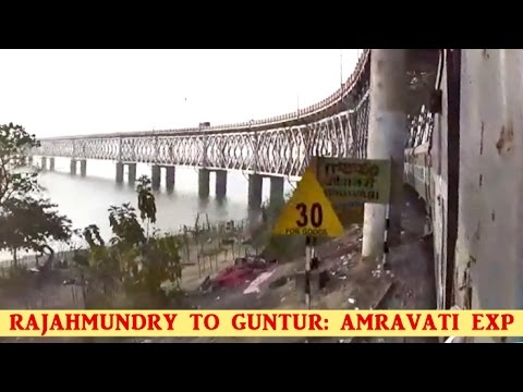 RAJAHMUNDRY To GUNTUR: Train Journey In 18047 AMARAVATI EXPRESS (Indian Railways)