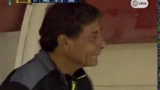 Universitario  la reacción de Roberto Chale por el gol de Andy Polo