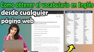 Como Crear Un Vocabulario En Inglés Desde Cualquier Texto Para Una Entrevista De Trabajo En Inglés
