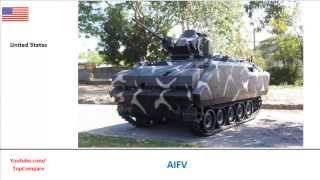 AIFV and ZBD-97 (Type 97), Infantry vehicles specifications
