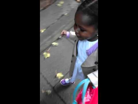 Baby Afia on her way to the shops