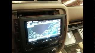 chevy silverado 2012 pioneer avh p4400bh install installing 5 channel amp on the back wall