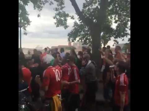 Magyar szurkolók Toulouse-ban