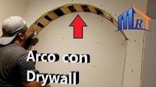Como doblar drywall en un Arco