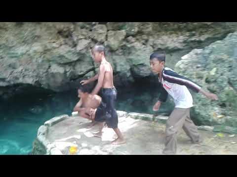 Hagers mandi bareng di air kontamale wakatobi