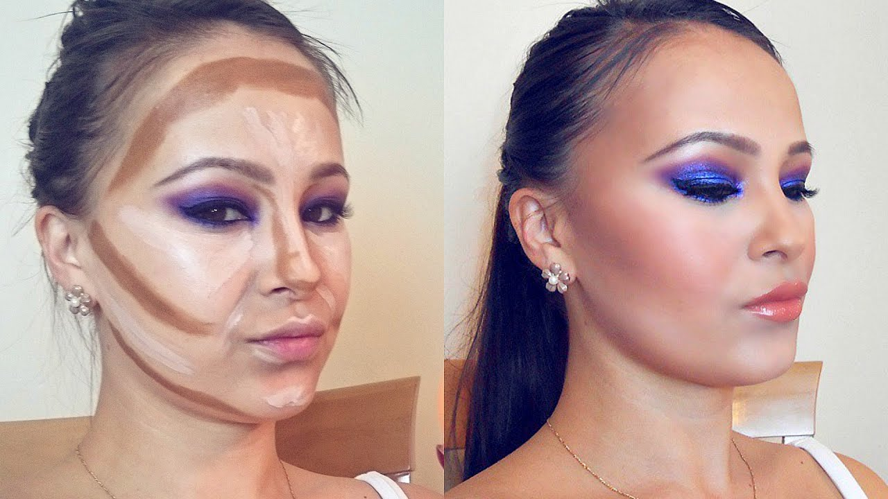 How To Contour And Highlight  Contour And Highlight Using Foundation   Youtube