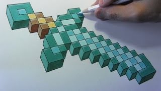 Drawing Time Lapse: Minecraft Sword