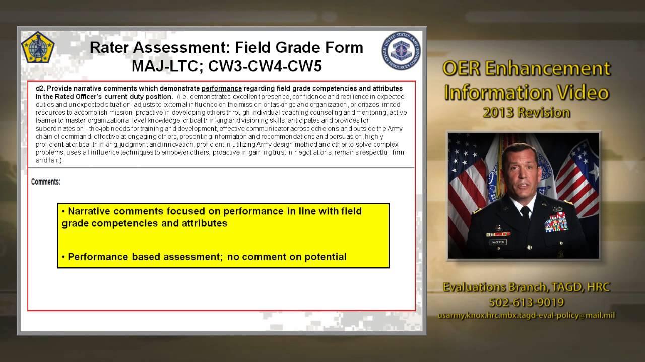 Slide 6 - Rater Assessment Field Grade Form