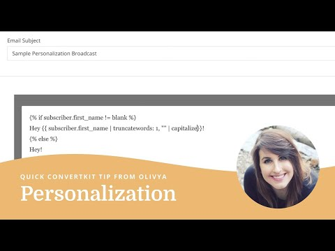 How to modify first name personalization code in a Broadcast