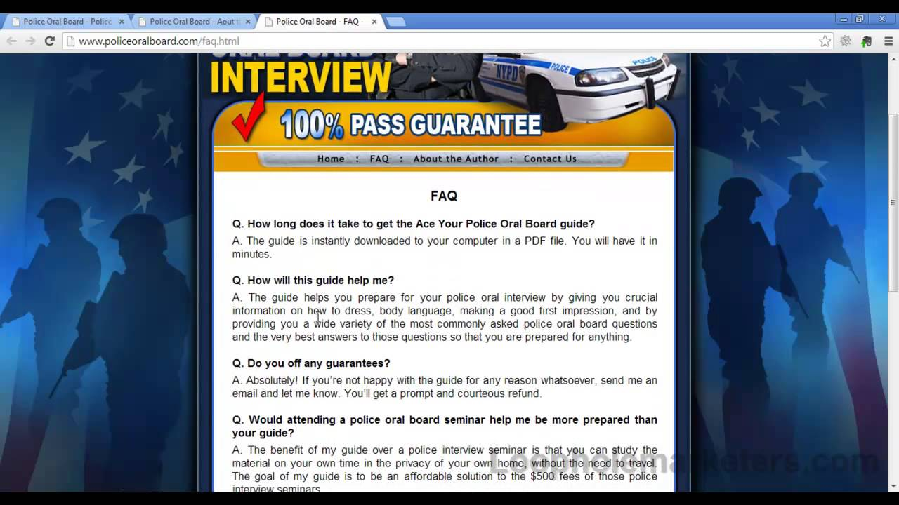 how to pass an oral interview