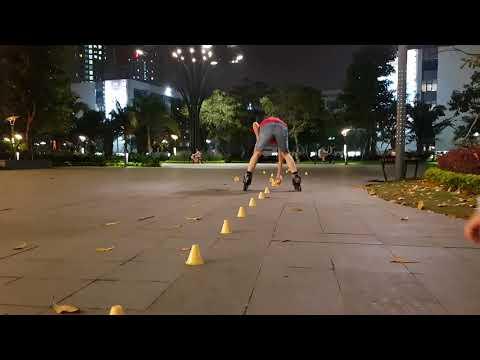 Training toe footgun 20 cone 80cm - inline skate club