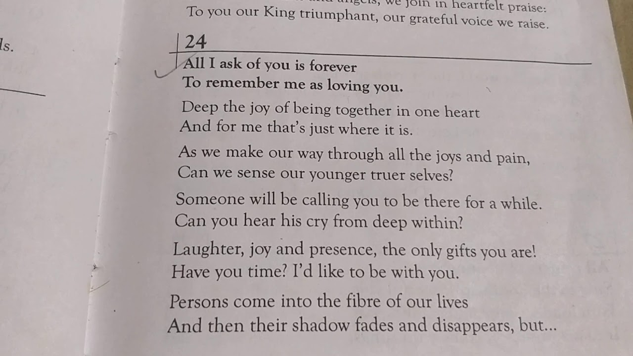 Download All I ask of you is forever-117-English hymn