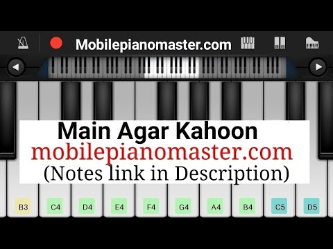 Main Agar Kahoon(Tumko Paya Hai To Jaise) Easy & Slow Piano Tutorial |Piano Lessons |Piano Keyboard