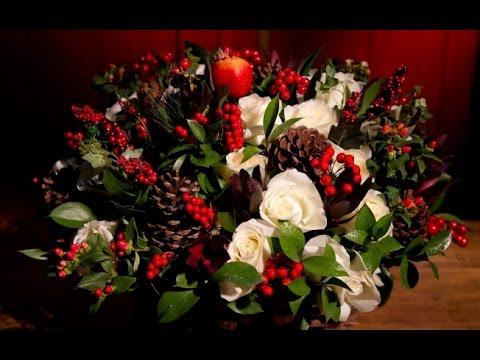 Como Hacer Arreglos Florales Navideños Youtube