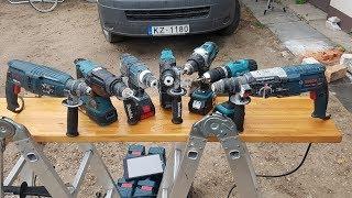 Makita и Bosch, обзор и сравнение электроинструмента слаботочника