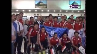 بالفيديو.. منتخب الفراعنة يدعم 'مصر للطيران' قبل مواجهة تنزانيا