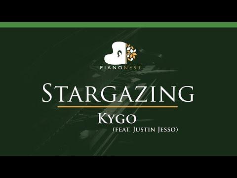 Kygo - Stargazing (feat. Justin Jesso) - LOWER Key (Piano Karaoke / Sing Along)