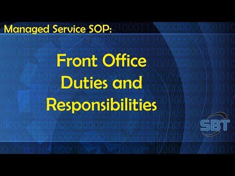 SOP: Front Office Responsibilities