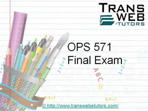 uop ops 571 final exam Essays - largest database of quality sample essays and research papers on uop ops 571 final exam.