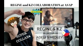 [REACTION] SUPER COLLAB! KZ TANDINGAN & REGINE VELASQUEZ-ALCASID - ADELE'S MEDLEY | #JANGReacts