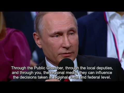 Putin Opens Forum for Local and Regional Media in St. Petersburg