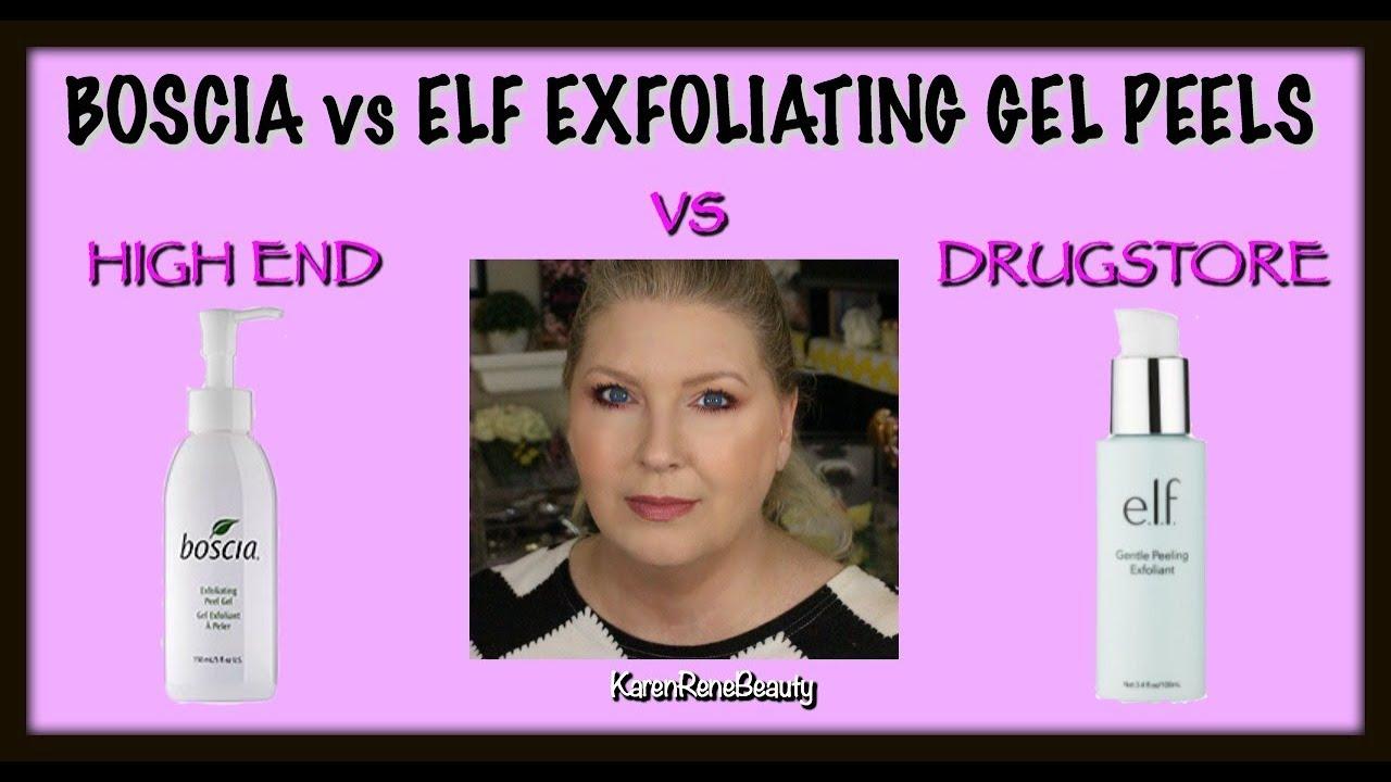 Boscia Vs Elf Exfoliating Gel Peels High End Vs Drugstore Youtube