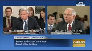 Repeat youtube video Sen Jeff Sessions Strongly Reminds Sen Sheldon Whitehouse We NOT a DEMOCRACY
