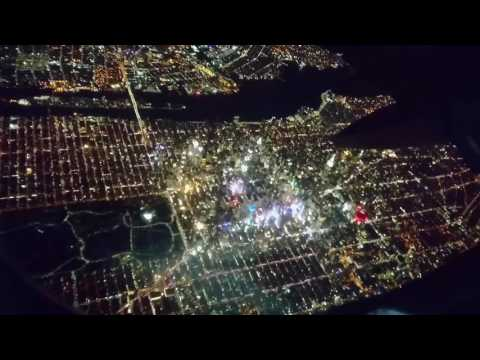 New York City - Taking off from Laguardia Airport at Night