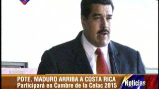 Presidente Nicolás Maduro arribó a Costa Rica para asistir a cumbre Celac