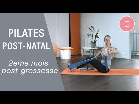 Pilates post-natal 2ème mois post-grossesse