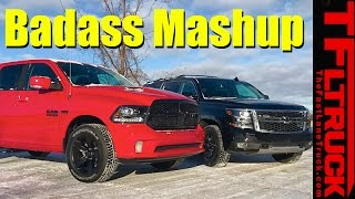 2017 chevy suburban z71 vs ram 1500 mopar which truck is more badass