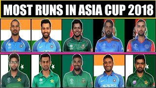 Most Runs in Last Asia Cup 2018 | Most Runs in Asia Cup 2018 | Shikhar Dhawan, Rohit Sharma, Babar |